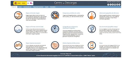 Web del Centro de Descargas del CNIG