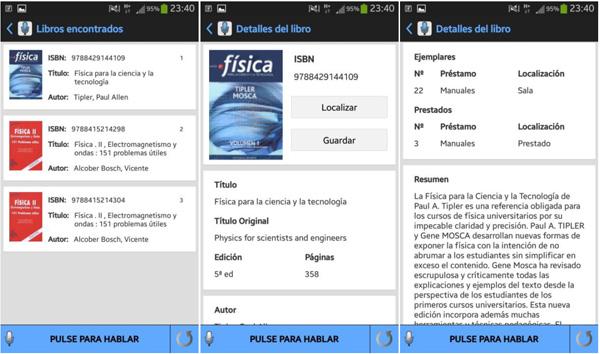 Capturas de pantalla de la funcionalidad de Acceso al Catálogo