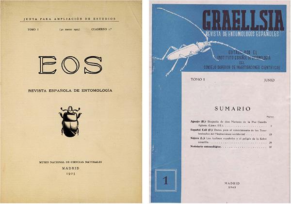 Portadas de las revistas EOS y GRAELLSIA